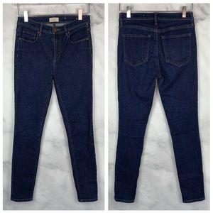 Ann Taylor LOFT Dark Modern High-Rise Skinny Jeans